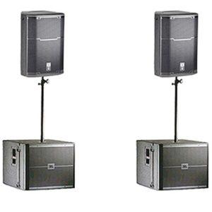 Аренда комплекта звука JBL PRX612, VRX918SP мощностью 3.5 квт