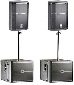 Аренда комплекта звука JBL PRX715, VRX918SP мощностью 5 квт