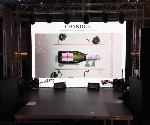 Светодиодный экран 4м х 3м Gloshine шаг 3мм (12м²) в аренду