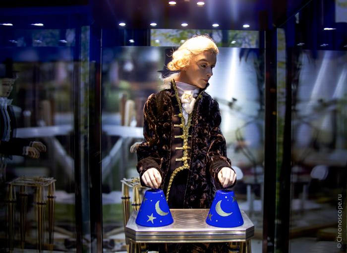 Оборудование на открытие выставки Jaquet droz в историческом музее
