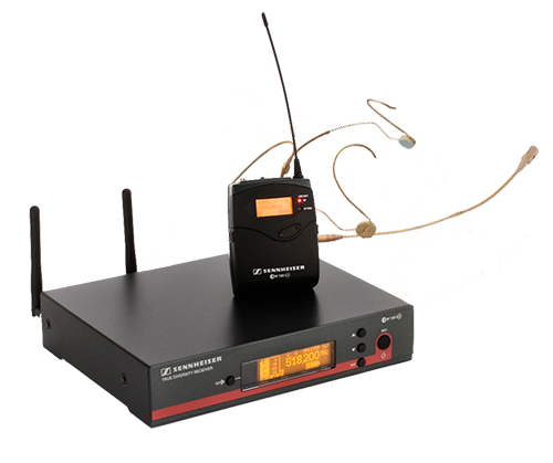 Аренда радио-микрофона с гарнитурой Sennheiser G3 EW100 / HSP4