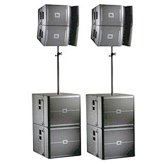 Аренда комплекта звука JBL VRX 932Lap, VRX 918SP мощностью 8 квт