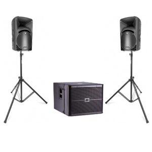Аренда комплекта звука MACKIE SRM450, VRX918SP мощностью 2 квт