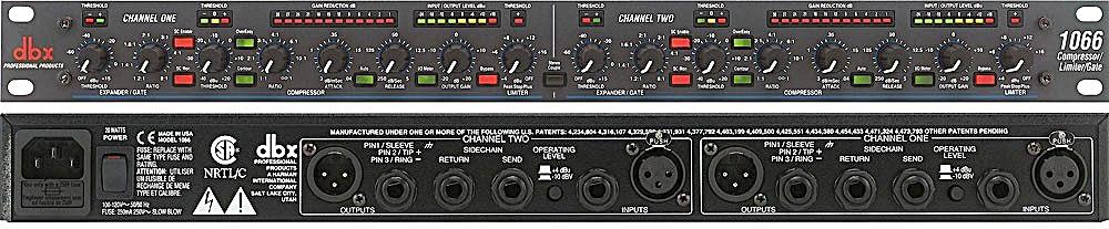 DBX 1066 - 2-канальный компрессор / лимитер / экспандер / гейт в аренду