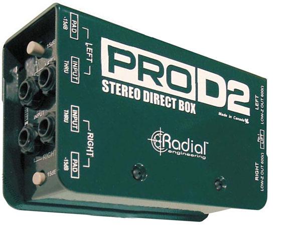 Radial PRO-D2 - стерео директ-бокс в аренду